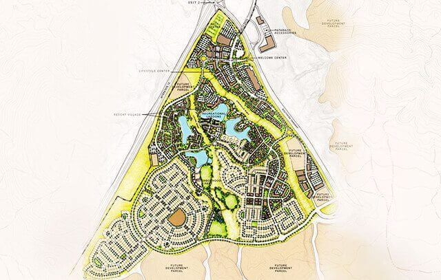 Dersert Color Master Plan Aerial View