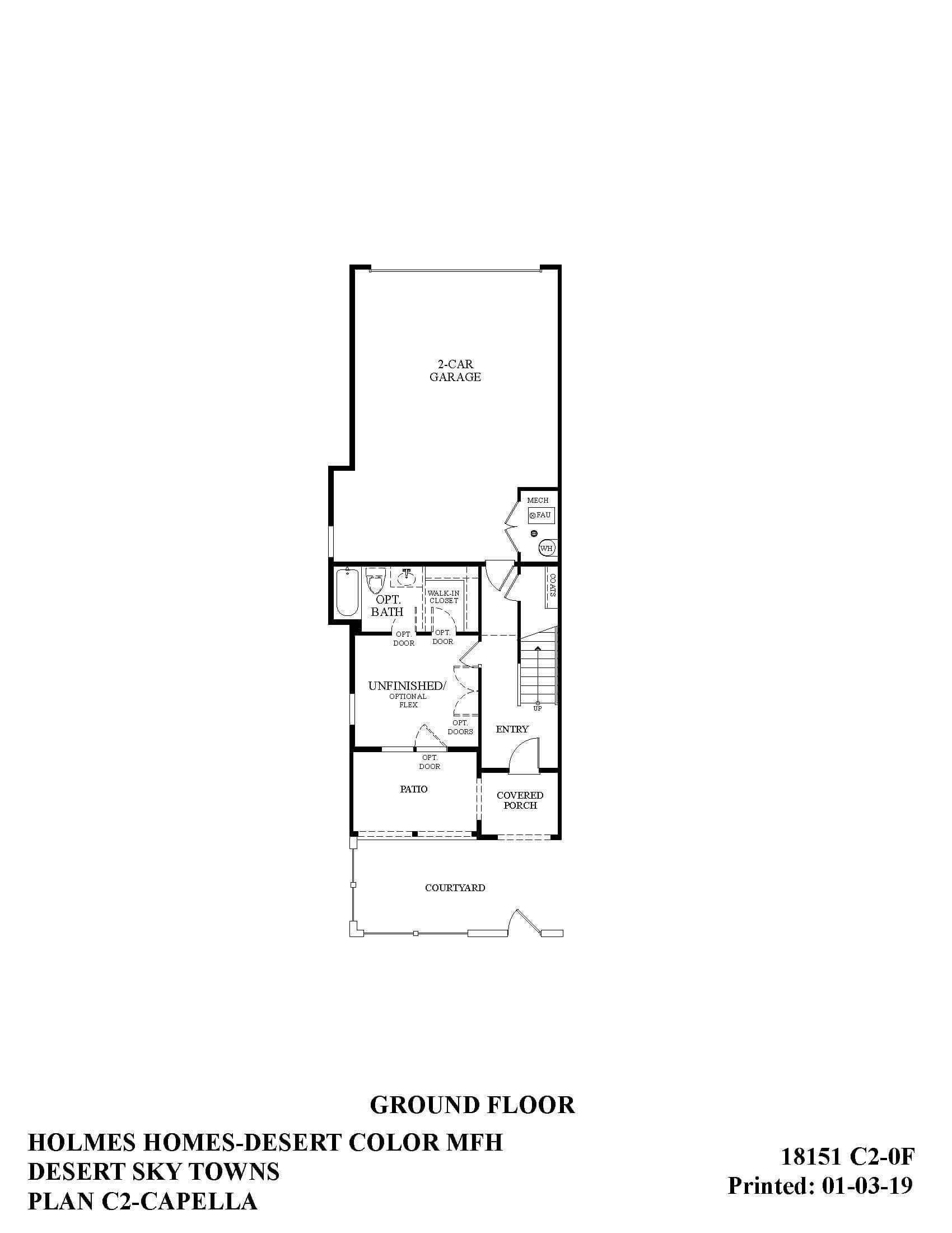 Desert Color Holmes Homes Desert Sky Capella Options Ground Floor Plan