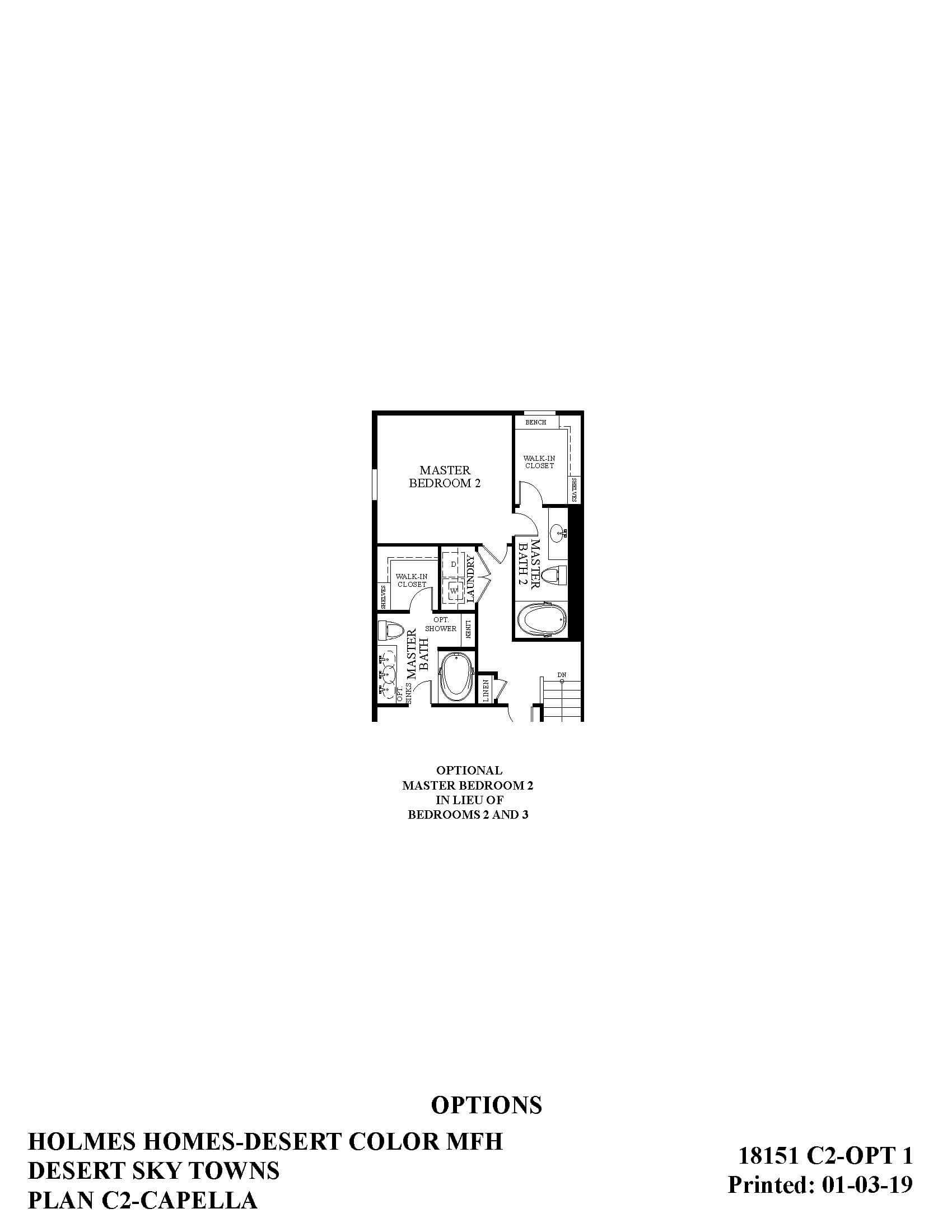 Desert Color Holmes Homes Desert Sky Capella Options Floor Plan