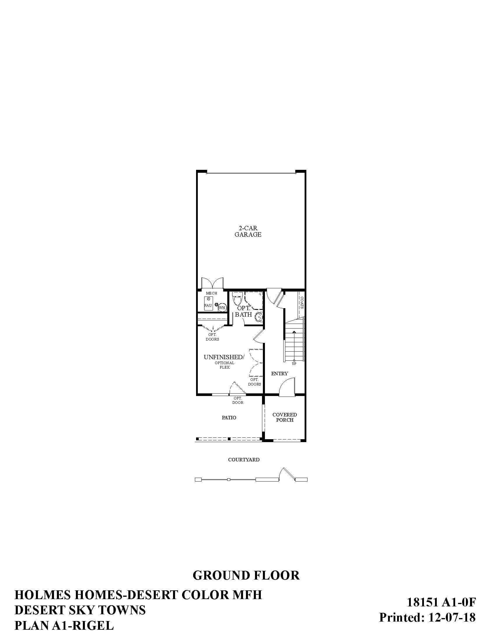 Desert Color Holmes Homes Desert Sky Rigel Ground Floor Plan