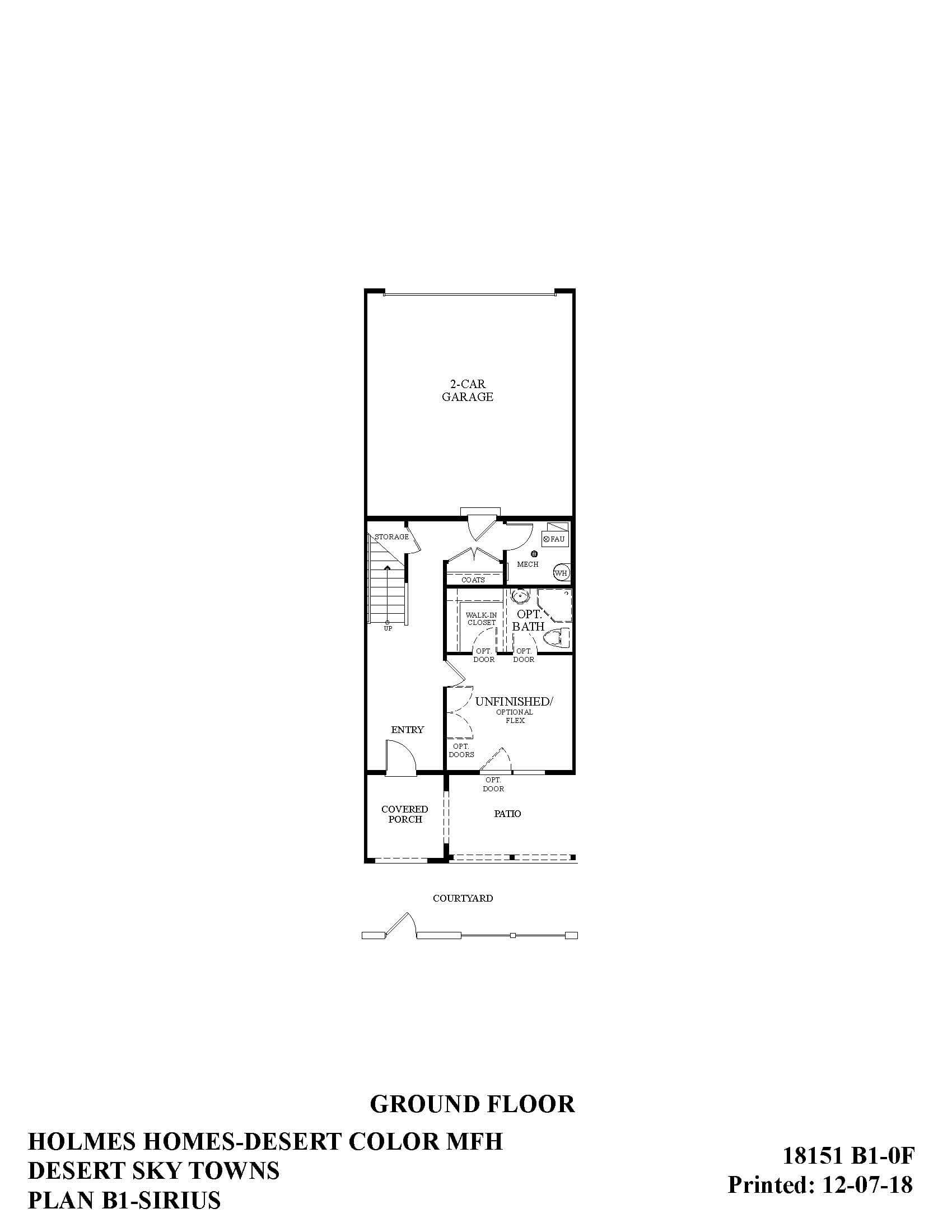 Desert Color Holmes Homes Desert Sky Sirius Ground Floor Plan
