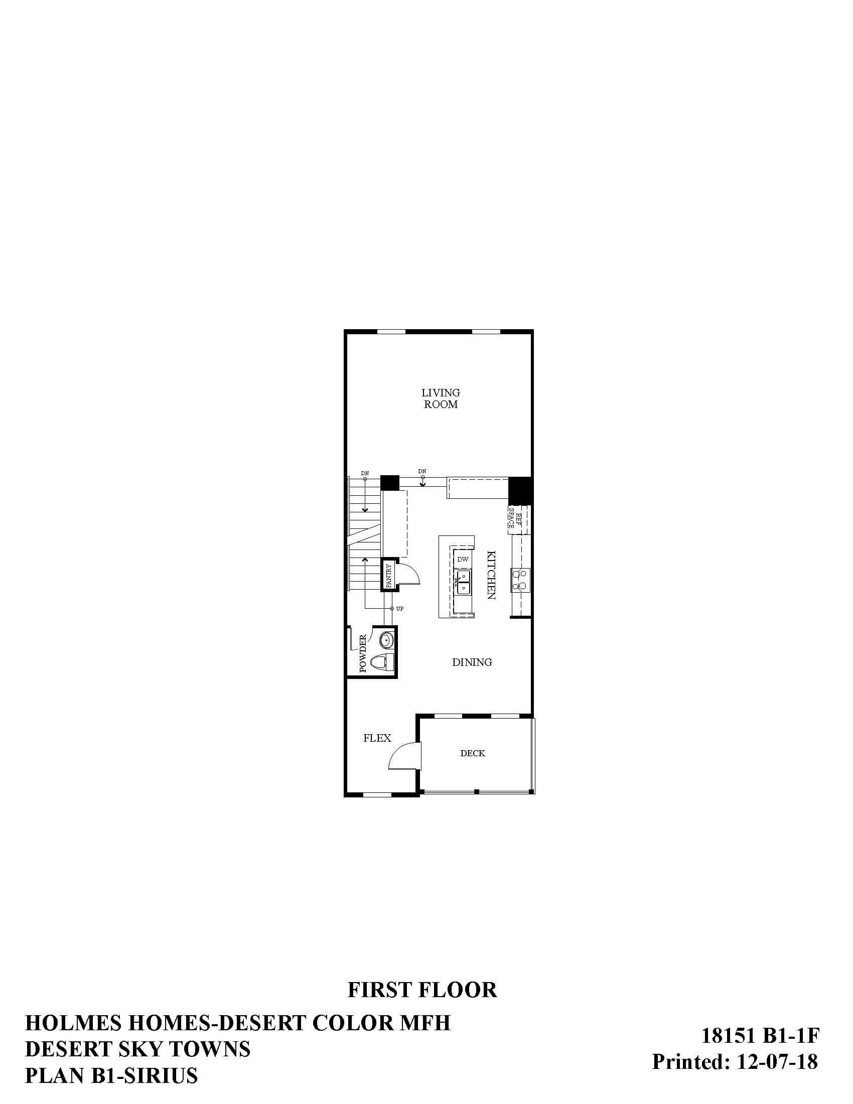 Desert Color Holmes Homes Desert Sky Sirius First Floor Plan