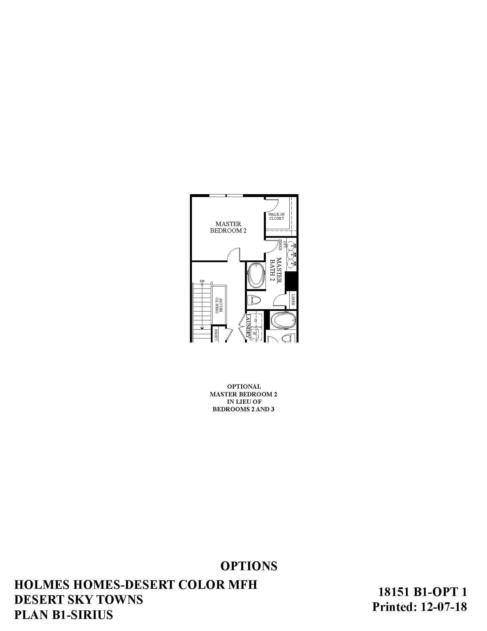 Desert Color Holmes Homes Desert Sky Sirius Options Floor Plan