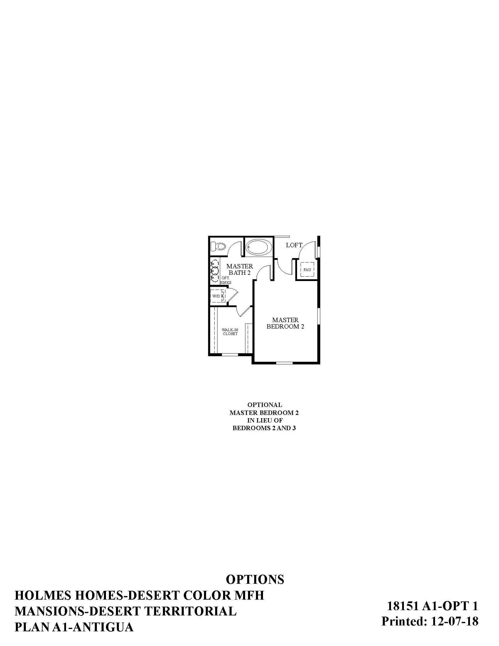 Desert Color Holmes Homes Mansions Antigua Options Floor Plan