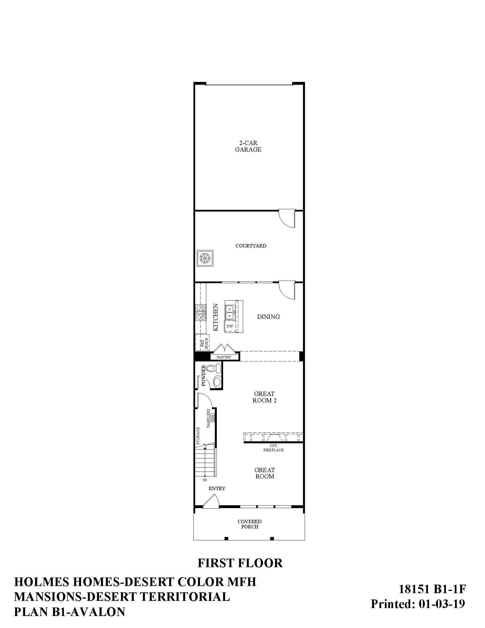 Desert Color Holmes Homes Mansions Avalon First Floor Plan
