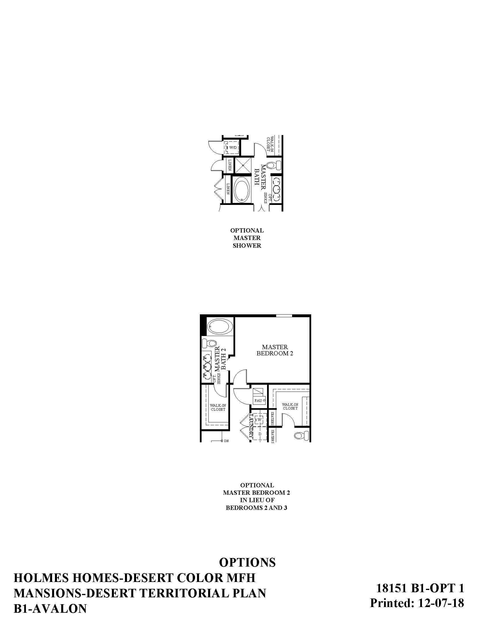 Desert Color Holmes Homes Mansions Avalon Options Floor Plan