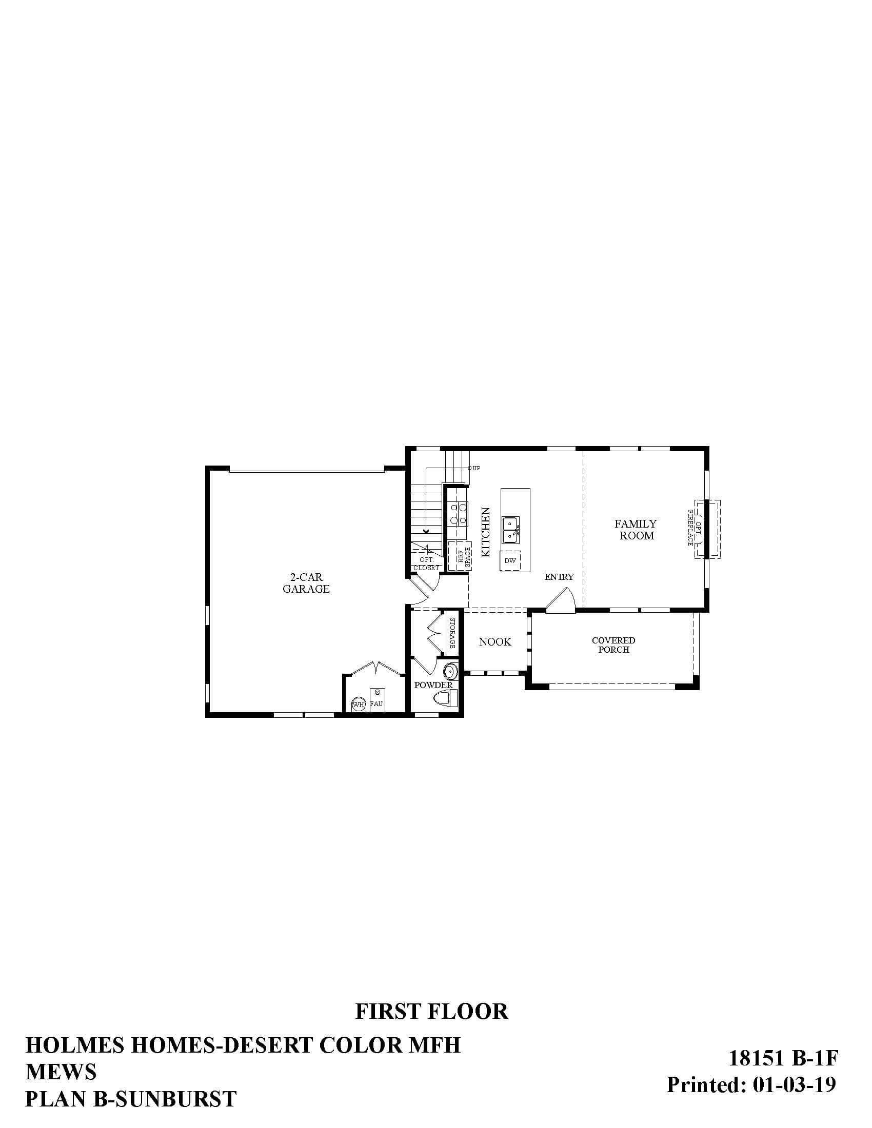 Desert Color Holmes Homes Mews Sunburst First Floor Plan
