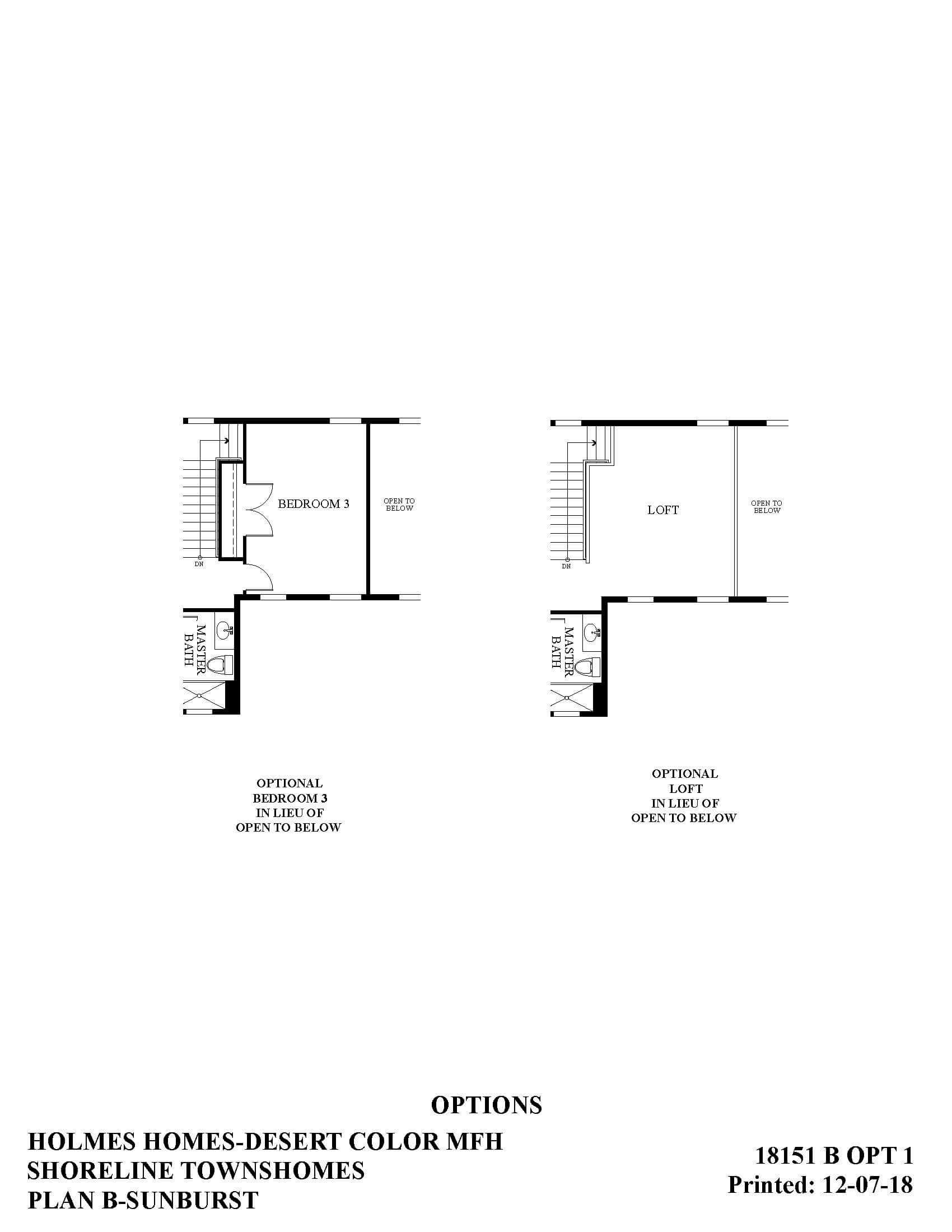 Desert Color Holmes Homes Shoreline Mews Sunburst Options Floor Plan
