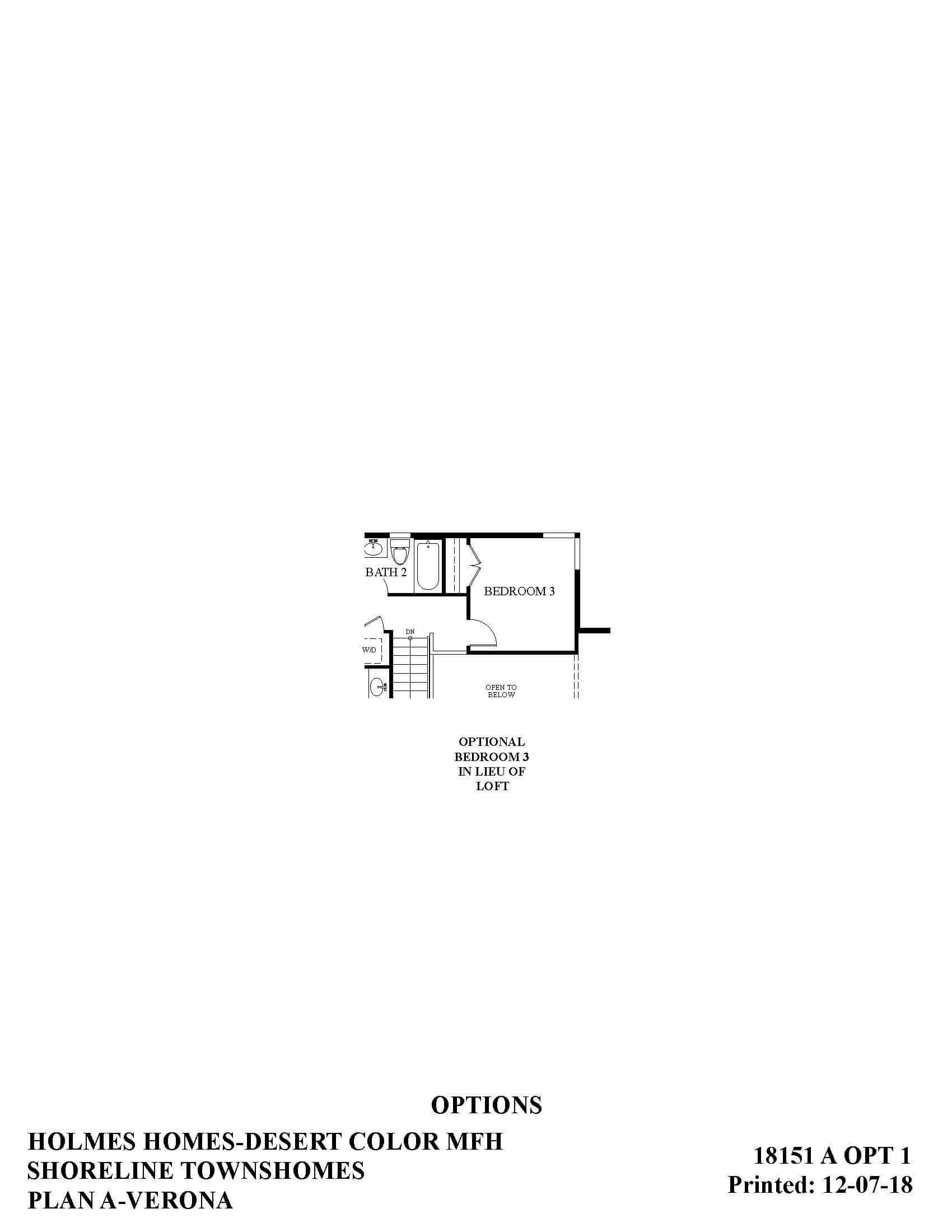 Desert Color Holmes Homes Shoreline Mews Verona Options Floor Plan