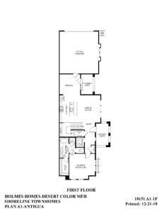 Desert Color Holmes Homes Shoreline Antigua First Floor Plan