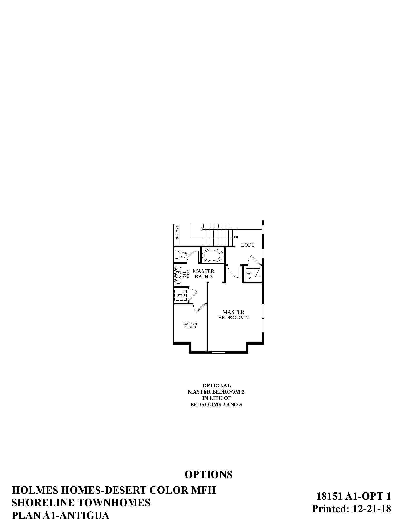 Desert Color Holmes Homes Shoreline Antigua Options Floor Plan