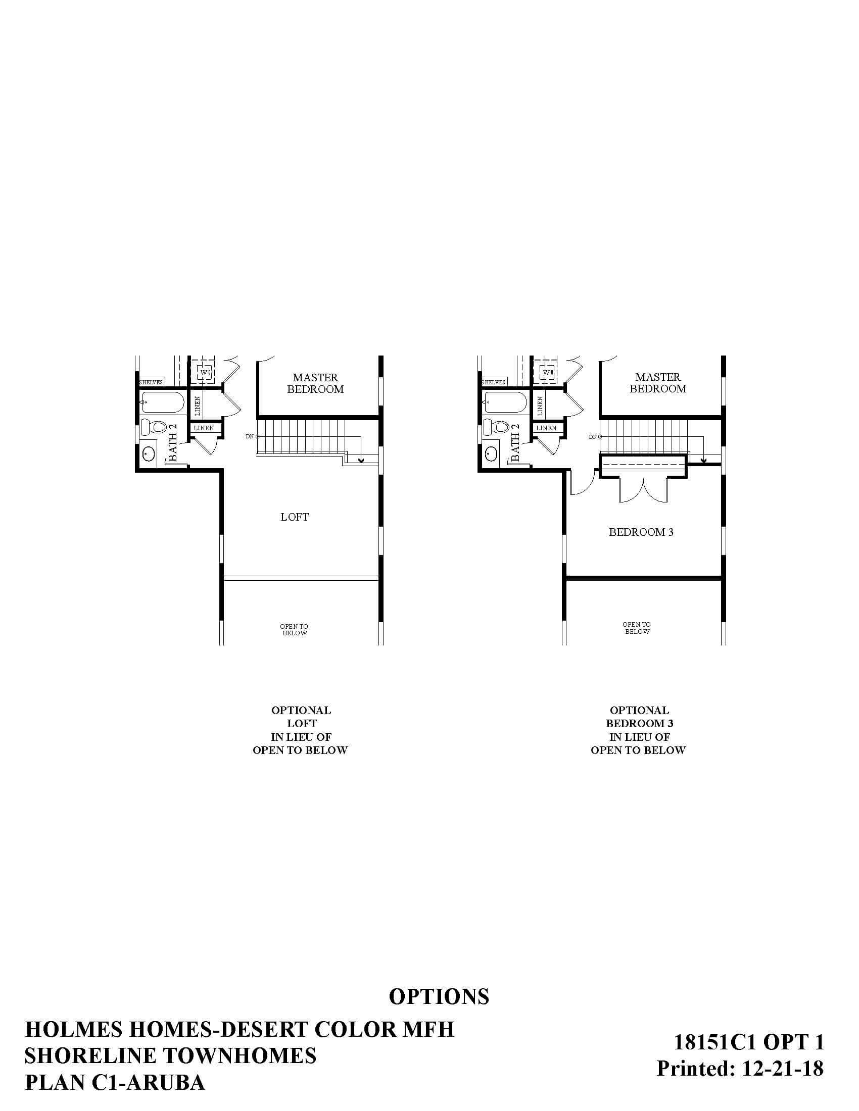 Desert Color Holmes Homes Shoreline Aruba Options Floor Plan