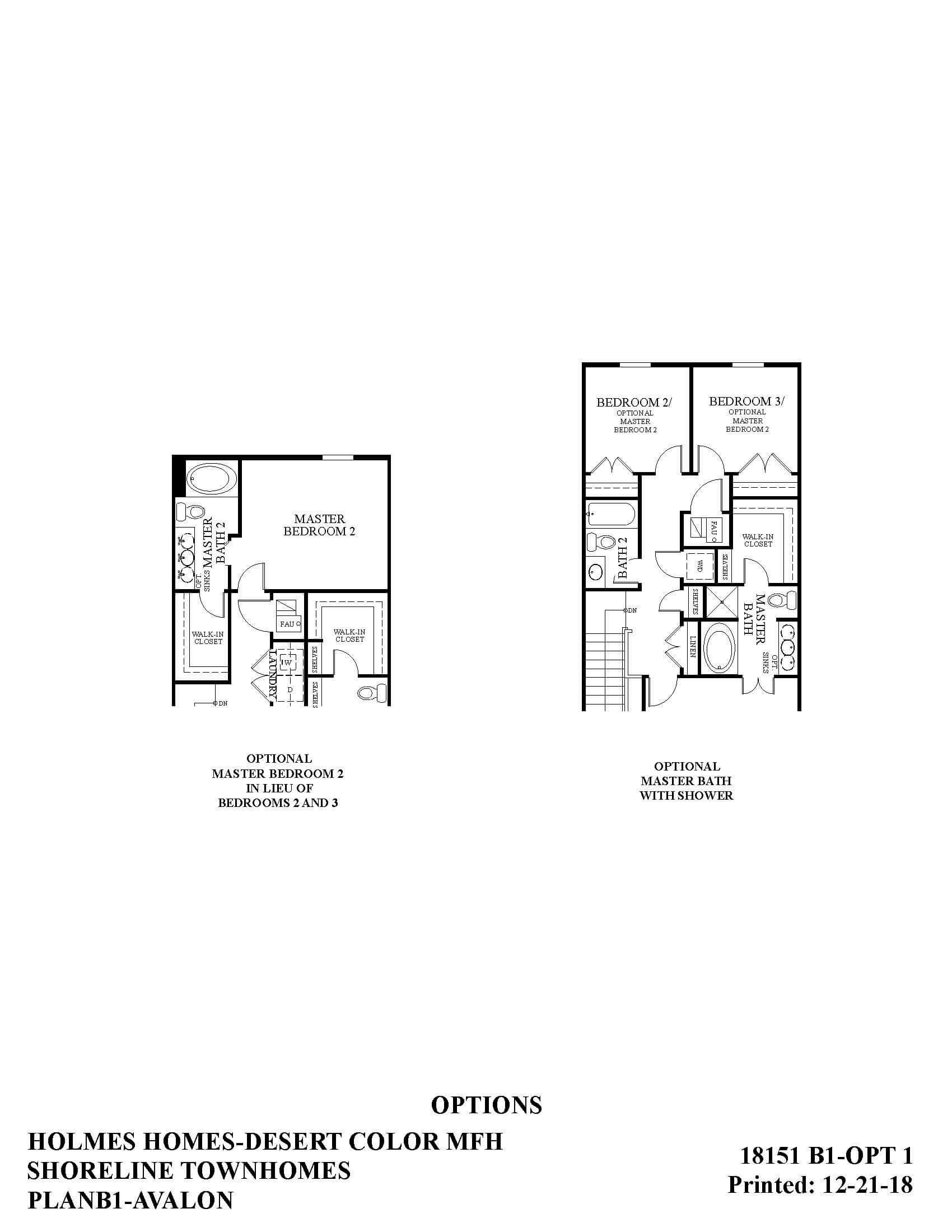 Desert Color Holmes Homes Shoreline Avalon Options Floor Plan
